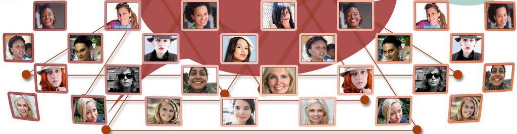 Montage of women's faces represent the team at KDJ Consultants.